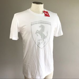 Puma Shirts - Puma Ferrari NEW SF big shield graphic tee white db91654a7a6
